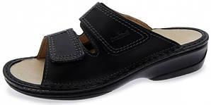 OrtoMed 3701 Черные, Липучка - Женские ортопедические босоножки для проблемных ног