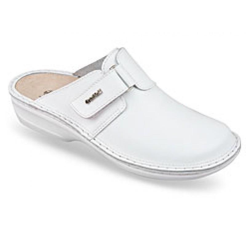 OrtoMed 3713 Белые, Пряжка - Женские ортопедические  тапочки для проблемных ног