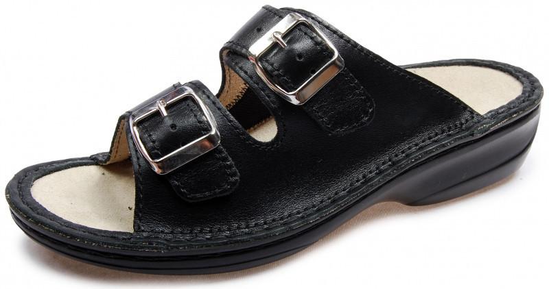 OrtoMed 3718 Черные, Пряжка - Женские ортопедические босоножки для проблемных ног