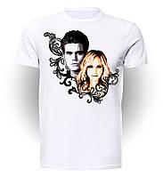 Футболка GeekLand Дневники Вампира The Vampire Diaries Caroline&Stefan VD.01.002