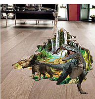 """Фотообои на стену виниловые, виниловая наклейка 3D """"Динозавры"""""""