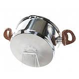 Кастрюля с крышкой Fissman ALTEA 6,1 л. (Нержавеющая сталь, стеклянная крышка с двумя отверстиями для слива), фото 4