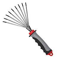 Грабли веерные с комбинированной рукояткой INTERTOOL FT-0023