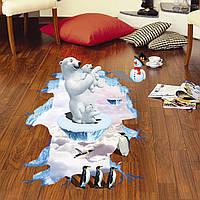 """Інтер'єрна вінілова 3D наклейка """"Білі ведмеді"""""""