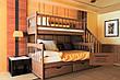 """Двухярусная кровать семейного типа """"Альбинос Макси """"с ящиками ступеньками и бортиками, фото 6"""