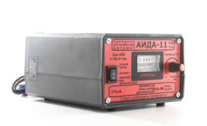 Зарядное предпусковое устройство АИДА-11 Автомат/Ручной заряд/Десульфатация для 12В/Режим хранения, фото 2