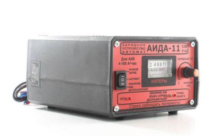 Зарядное предпусковое устройство АИДА-11 Автомат/Ручной заряд/Десульфатация для 12В/Режим хранения