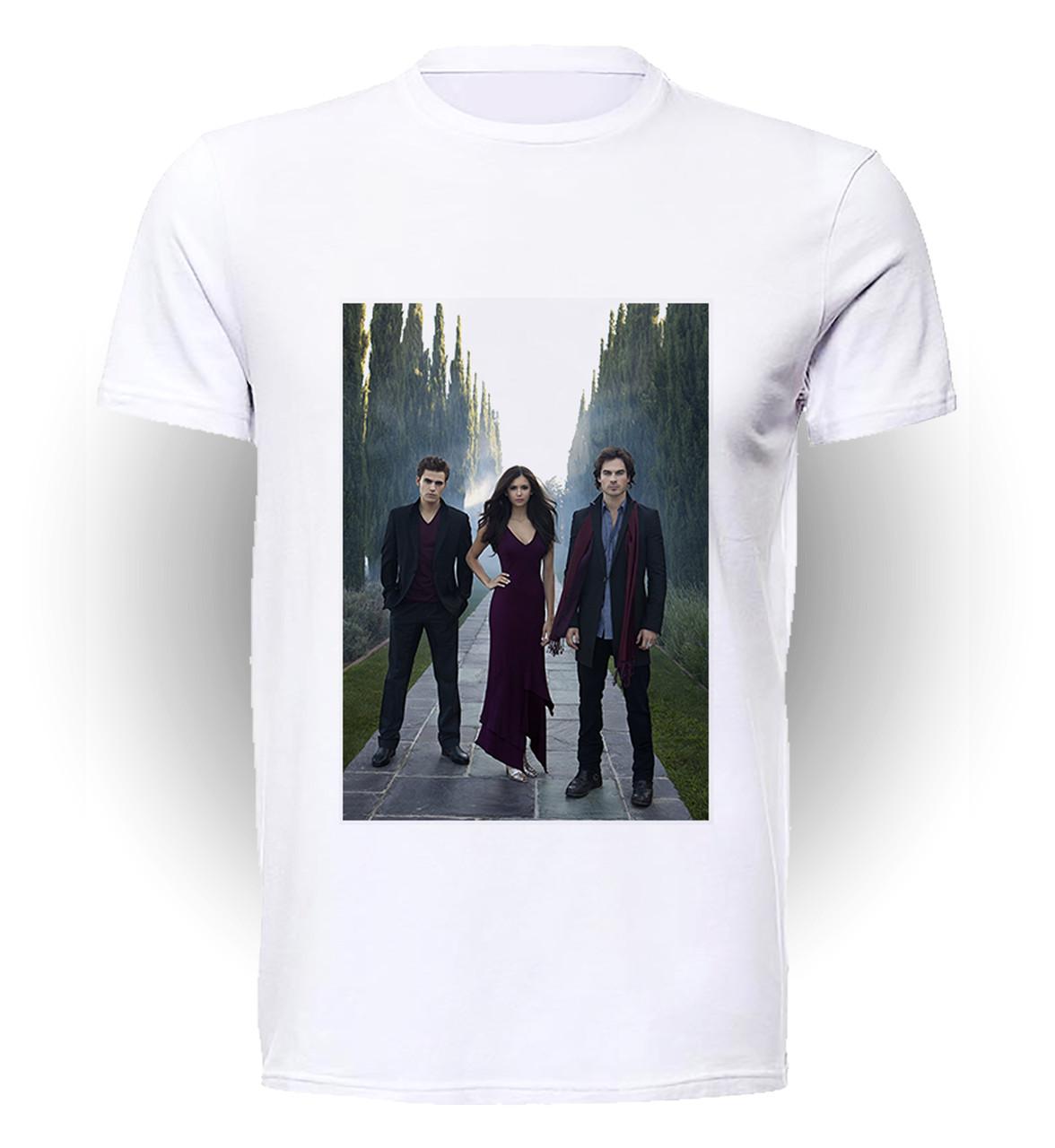Футболка GeekLand Дневники Вампира The Vampire Diaries втроём VD.01.016