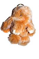 Меховой брелок Кролик меланж Зайчик (средний), оранж, 15см