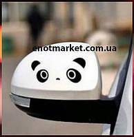"""Наклейки виниловые для авто """"панды"""" (черные) 4 шт."""