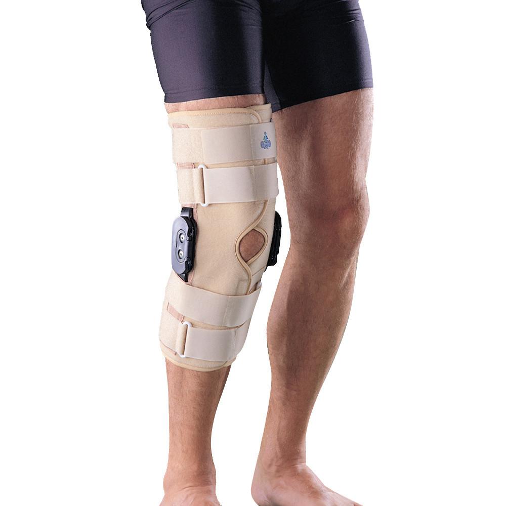 Ортез коленный, с боковыми шарнирами, полная фиксация Oppo 4037