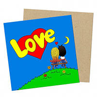 Мини открытка Love is