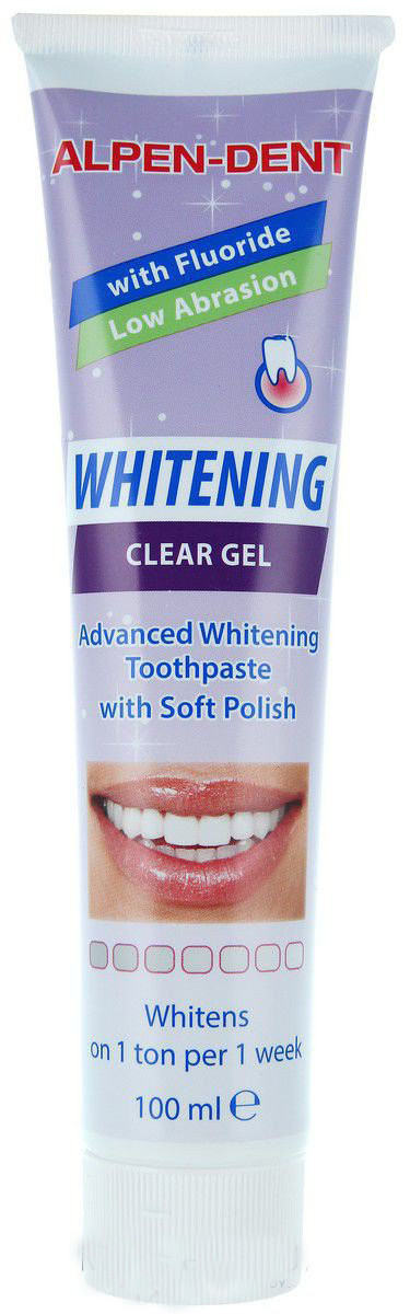 Отбеливающий прозрачный гель для зубов, Alpen-Dent Whitening Clear Gel, 100 ml.