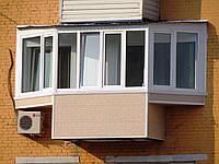 """Балконы под """"ключ"""". Разварка, обшивка, окна."""