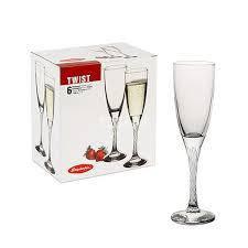 Набор бокалов для шампанского PasabahceTwist 175мл 44307, фото 2