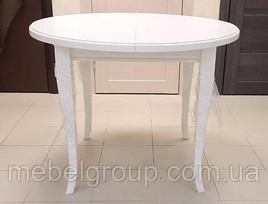 Круглий розсувний стіл Кардинал 90(125)x75