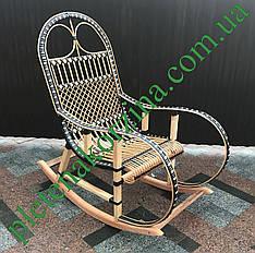 Плетеное Кресло-качалка из лозы Арт.12643ротанг
