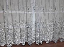 Тюль вышивка Изабелла Серебро, 3 метра, фото 2