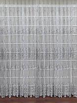 Тюль вышивка Изабелла Серебро, 3 метра, фото 3