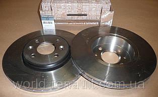 Комплект тормозных дисков на Рено Логан 2, Сандеро Степвей 2 D=258мм/ Renault ORIGINAL 402061200R