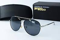 Солнцезащитные очки Porsche черные с серебром, фото 1