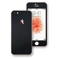 Черный Карбон на iPhone 5s и SE Виниловые Декоративные Наклейки Скин Защитная Пленка под Carbon Винил Стикер
