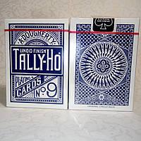 Карты Tally-Ho (Original Circle Back) Blue - синие, фото 1