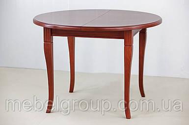 Круглий розсувний стіл Кардинал 90(130)x75