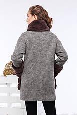 Женское пальто Кейлин, шерсть, шоколад, р.42-50, фото 3