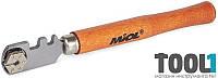 Стеклорез 1 ролик, деревянная ручка MIOL 73-200