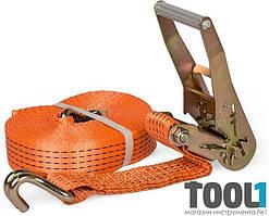 Стяжной ремень, 10м (2 крюка, алюминиевая ручка) MIOL 80-720
