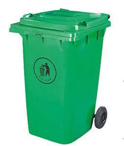 Контейнер для мусора 360 литров зеленый на колесах бак емкость 300 350 400, фото 2