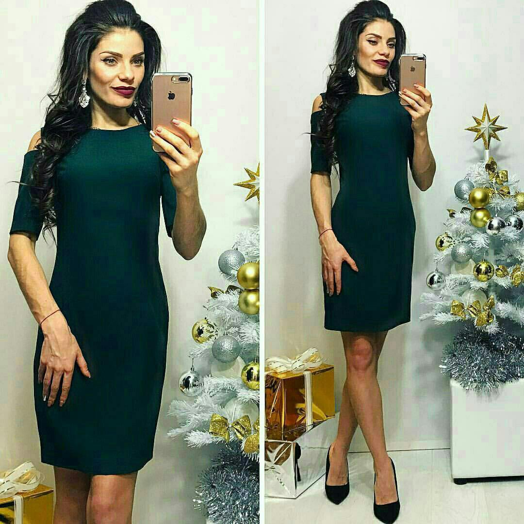 Платье, модель 766, цвет - бутылочка