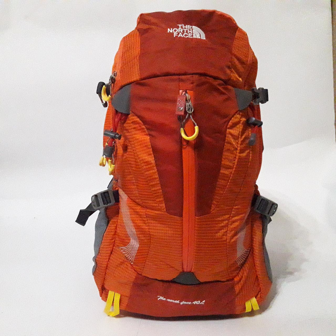 Спортивный рюкзак The North Face 40 л стильный яркий оранжевый