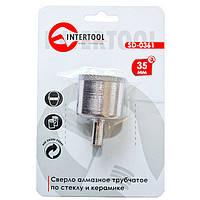 Сверло алмазное трубчатое по стеклу и керамике 35 мм INTERTOOL SD-0361