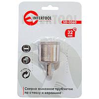Сверло алмазное трубчатое по стеклу и керамике 32 мм INTERTOOL SD-0360