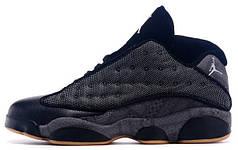 Мужские баскетбольные кроссовки Nike Air Jordan 13 Low Quai 54 Black Dark Grey White Chrome Hot. ТОП Реплика ААА класса.
