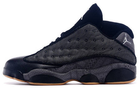 Мужские баскетбольные кроссовки Nike Air Jordan 13 Low Quai 54 Black Dark Grey White Chrome Hot. ТОП Реплика ААА класса., фото 2