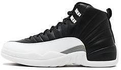 Мужские баскетбольные кроссовки Nike Mens Air Jordan 12 Retro Playoff Black White-True Red. ТОП Реплика ААА класса.