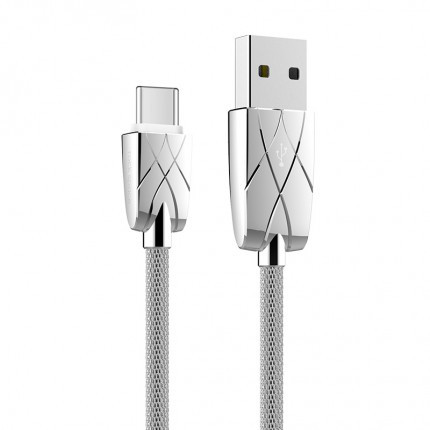 Кабель ROCK Metal Type C data cable (Silver)