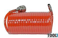 Шланг спиральный с быстроразъёмным соединением 5 м. HOUSETOOLS 80K172