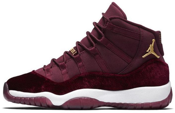 """Женские баскетбольные кроссовки Nike Air Jordan 11 Retro """"Heiress"""" Bordo. ТОП Реплика ААА класса."""