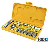 Набор ключей и насадок торцевых 21 шт. MASTERTOOL 78-0257