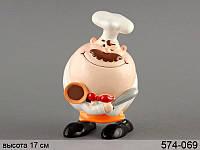 """Копилка """"шеф-повар"""", 11.5X10X17 см, в кор. 24 шт."""