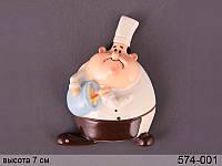 """Декоративное изделие на магните """"повар"""", 7 см, в кор. 24 шт."""