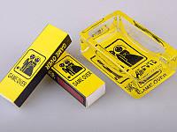 Набор из 2 пр.: пепельница 12х9х3 см, коробок для спичек 2 шт.