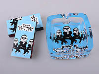 Набор из 2 пр.: пепельница 10х10х4 см, коробок для спичек 2 шт.