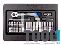 """Набор инструмента 1/4"""" (головки,трещетка,удл.,кардан). KINGTONY 9-2526MR"""