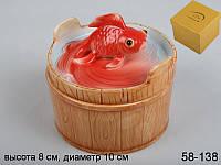 """Шкатулка """"золотая рыбка"""", 8х10 см, в ящ. 24 шт."""