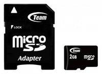 Карта памяти microSD 2GB Team Class 2 + SD-adapter (TUSD2G03)